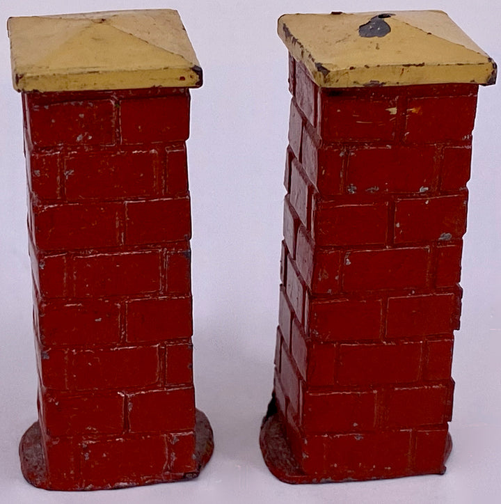 Pair Taylor & Barrett red brick square pillars