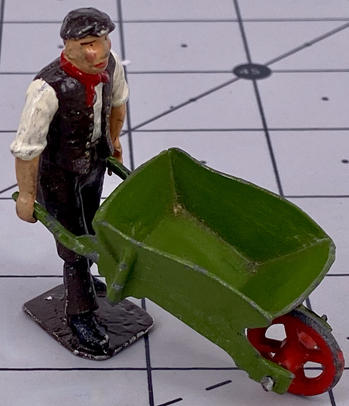 Britains man with wheelbarrow
