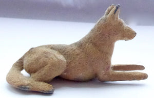 Timpo flocked seated Alsatian dog