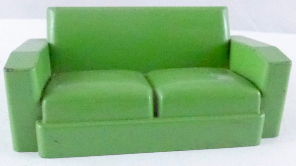 Crescent sofa, green