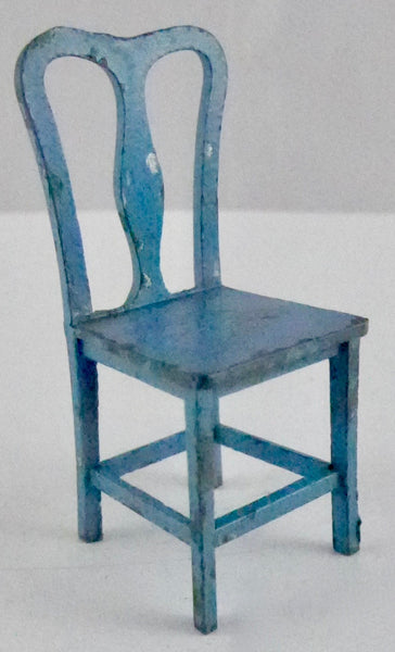 Tootsie Toy blue dining chair
