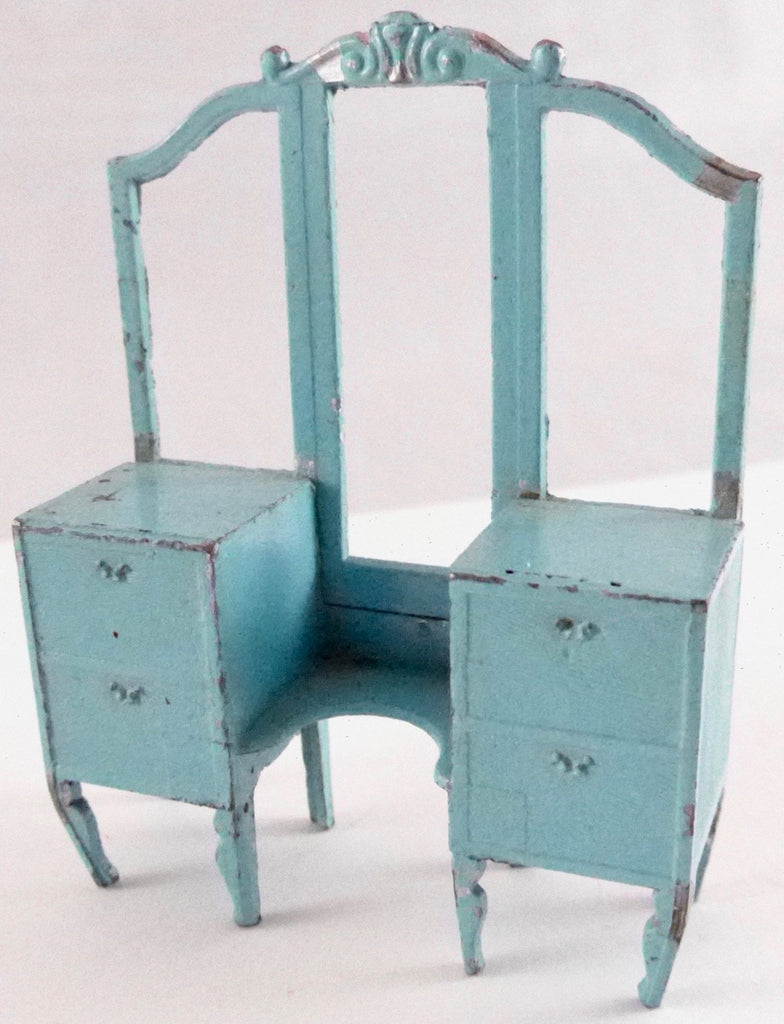 Tootsie Toy blue dressing and side table