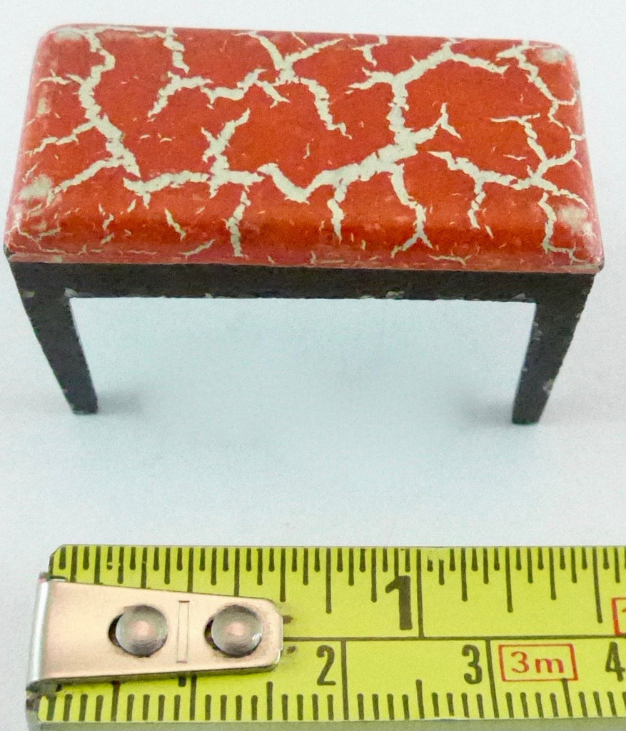 Tootsie Toy red patterned stool
