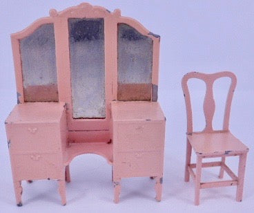 Tootsie Toy pink dining chair