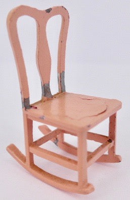 Tootsie Toy pink rocking chair