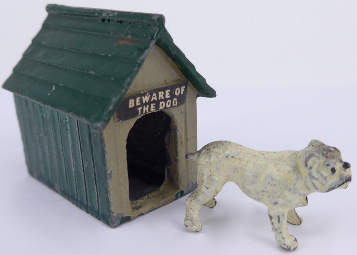 green Johillco kennel with white bulldog