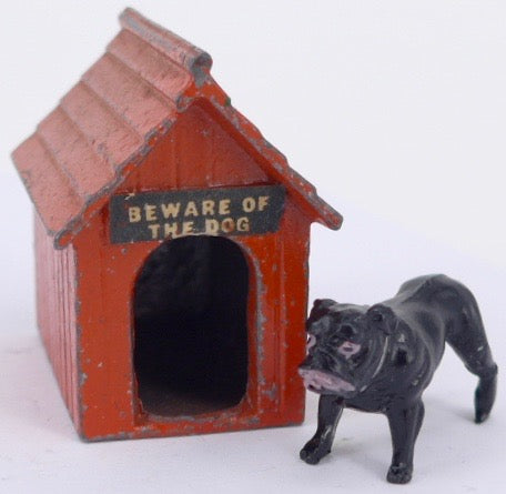 rare red Johillco kennel with bulldog