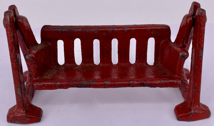 Kilgore cast iron burgundy red lawn swing seat