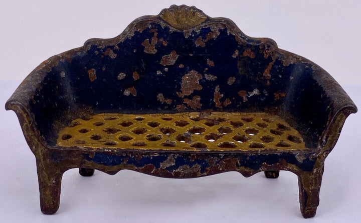 cast iron navy sofa, possibly J E Stevens
