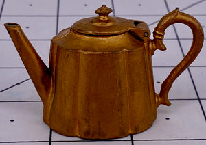 Britains Miniature Kitchen Utensils gilt teapot