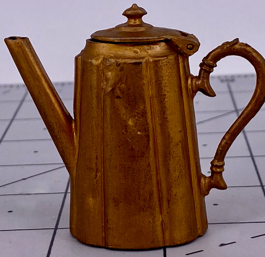 Britains Miniature Kitchen Utensils gilt coffee pot