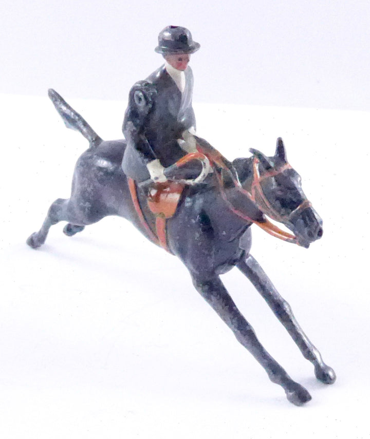 Britains Hunt Series galloping huntswoman mounted sidesaddle, grey