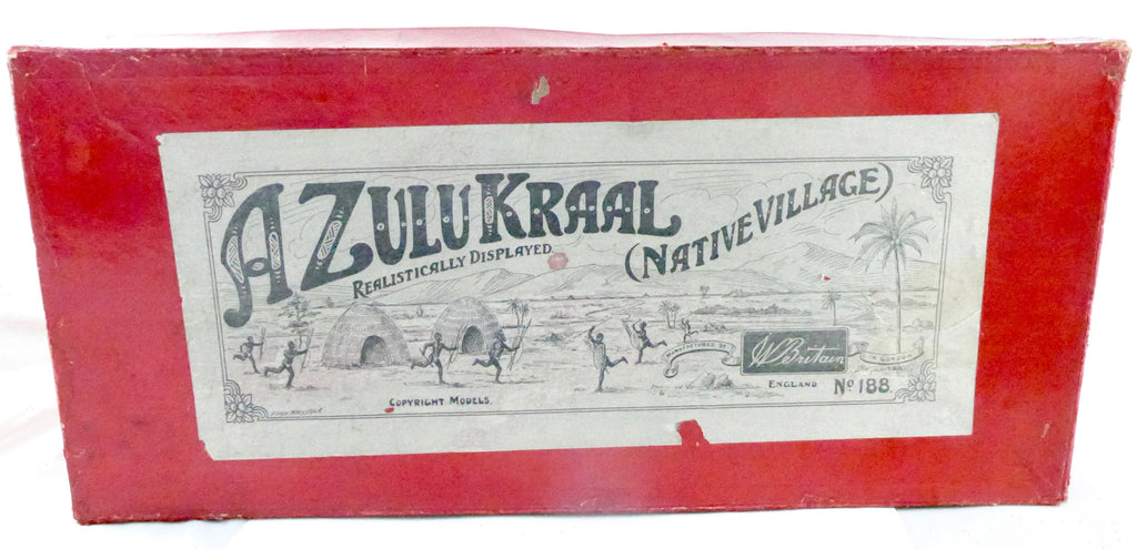 Britains boxed set 188 - A Zulu Kraal (Native Village) - first version, very rare