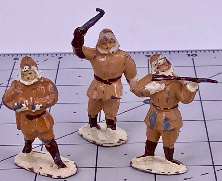 three Timpo Eskimo trappers from Arctic set