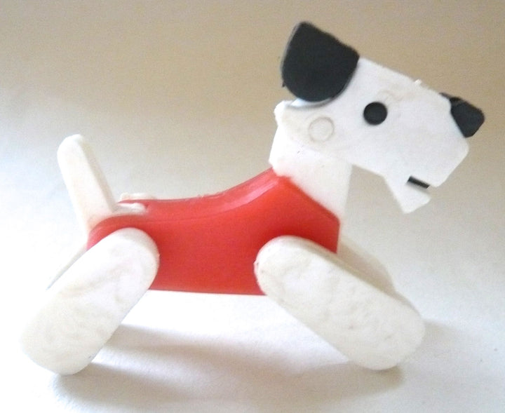 Britains Twizzle Town plastic circus dog, red