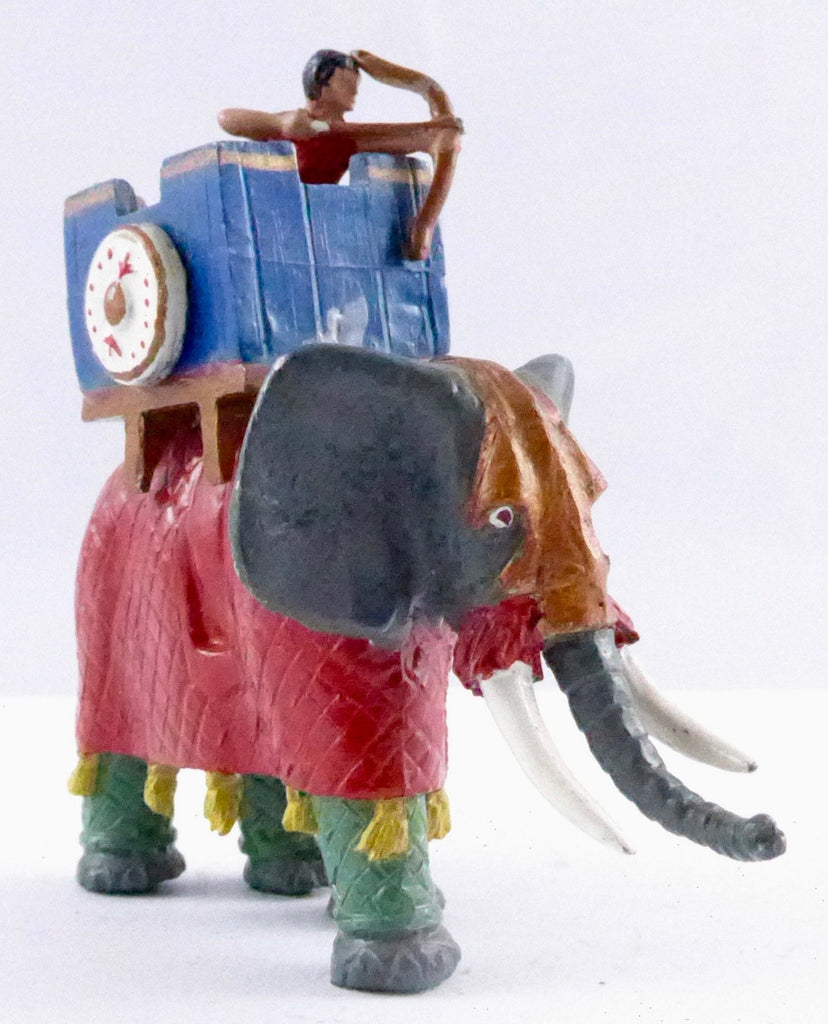 ceremonial elephant with howdah and archer