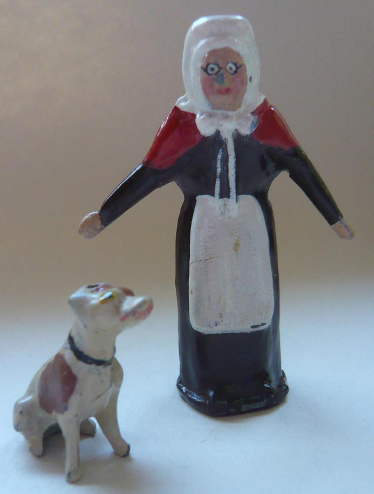 Pixyland Old Mother Hubbard and seated dog