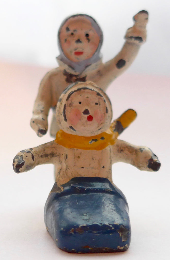 Britains snow babies, pair for sled set, very rare