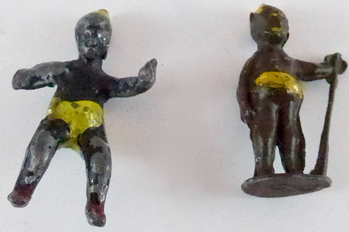 Moultoy Zabo pair of figures, astride and standing
