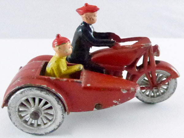 Tootsietoy Funnies Smitty Motorcycle & Sidecar, rare