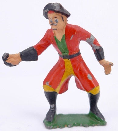 AHI Brand Toys pirate in red coat from Captain Kidd & His Pirates set
