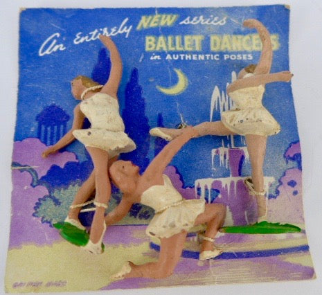 rare carded set of three Cherilea ballet dancers