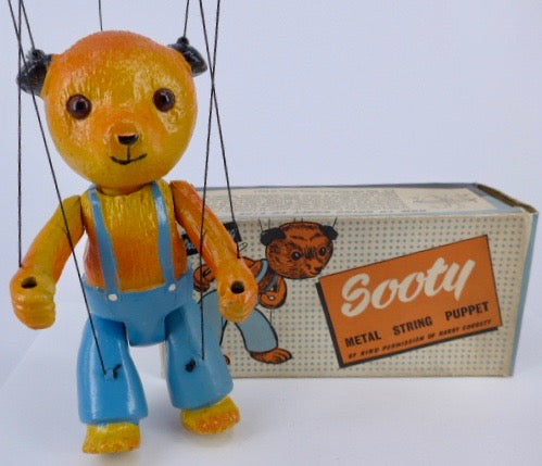 Barrett & Sons articulated Sooty puppet boxed