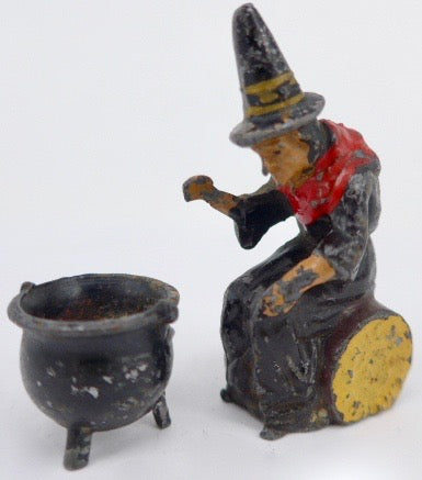 John Hill witch and cauldron