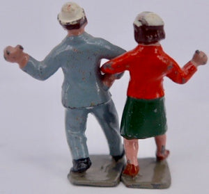 Britains Lambeth Walk dancing couple, very rare