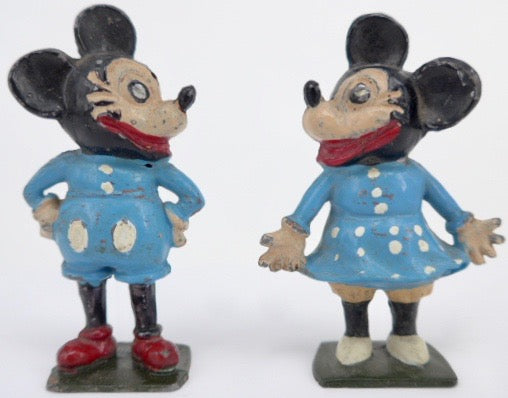 very rare Phillip Segal Toys Mickey & Minnie Mouse
