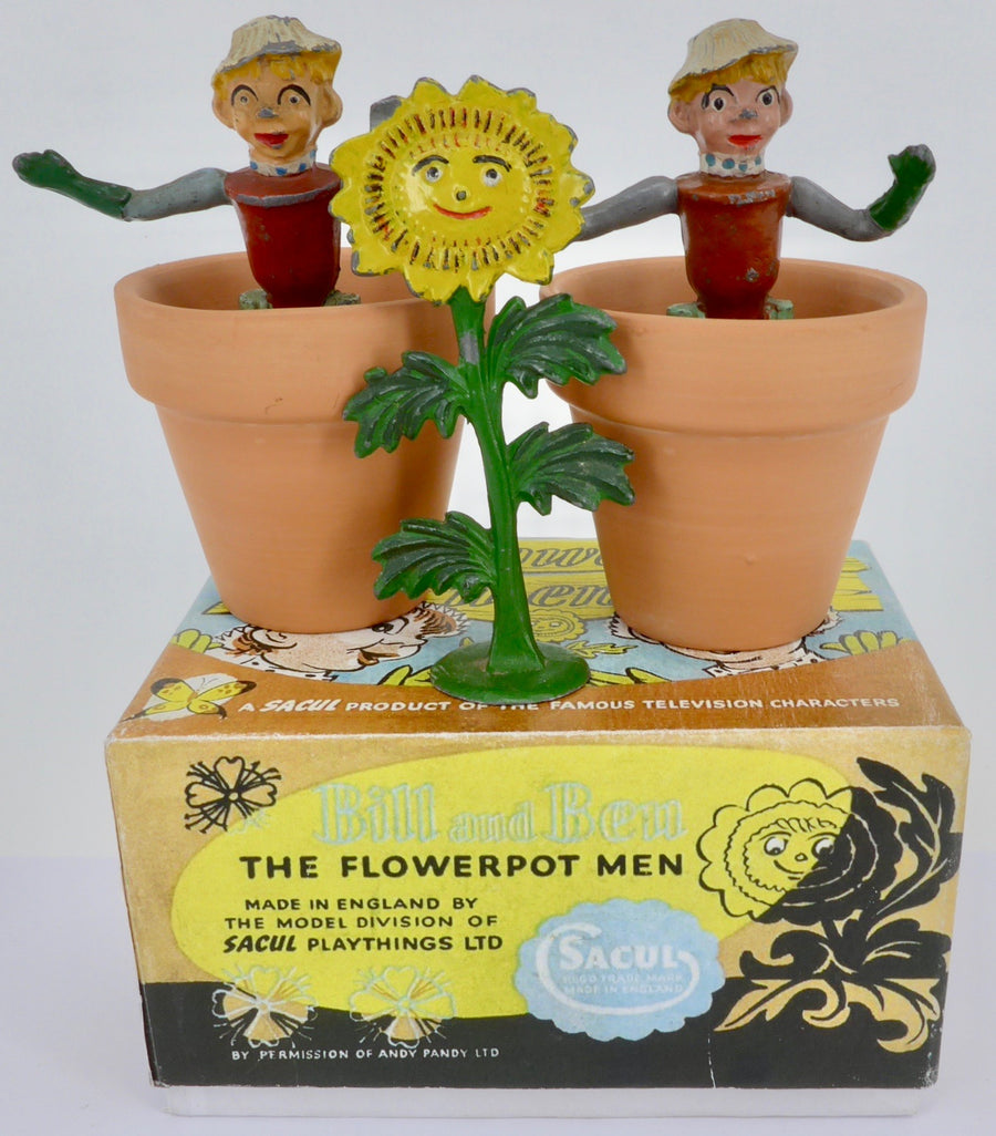 Sacul Bill and Ben the Flowerpot Men and Little Weed