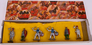 Six boxed Crescent knights