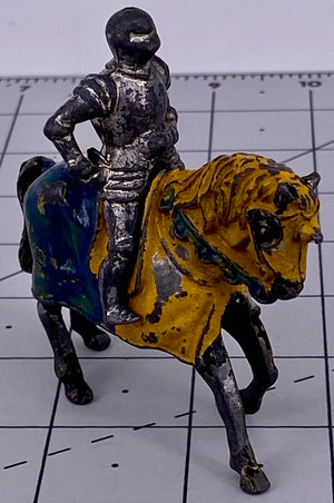 Timpo knight in armour, mounted