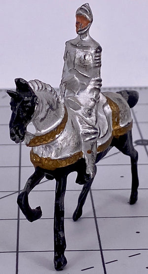 Crescent mounted knight, silver