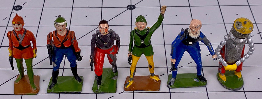Britains Buck Rogers complete set, very rare
