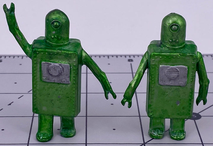 Johillco Spacemen two Suitcase Robots, green, extremely rare