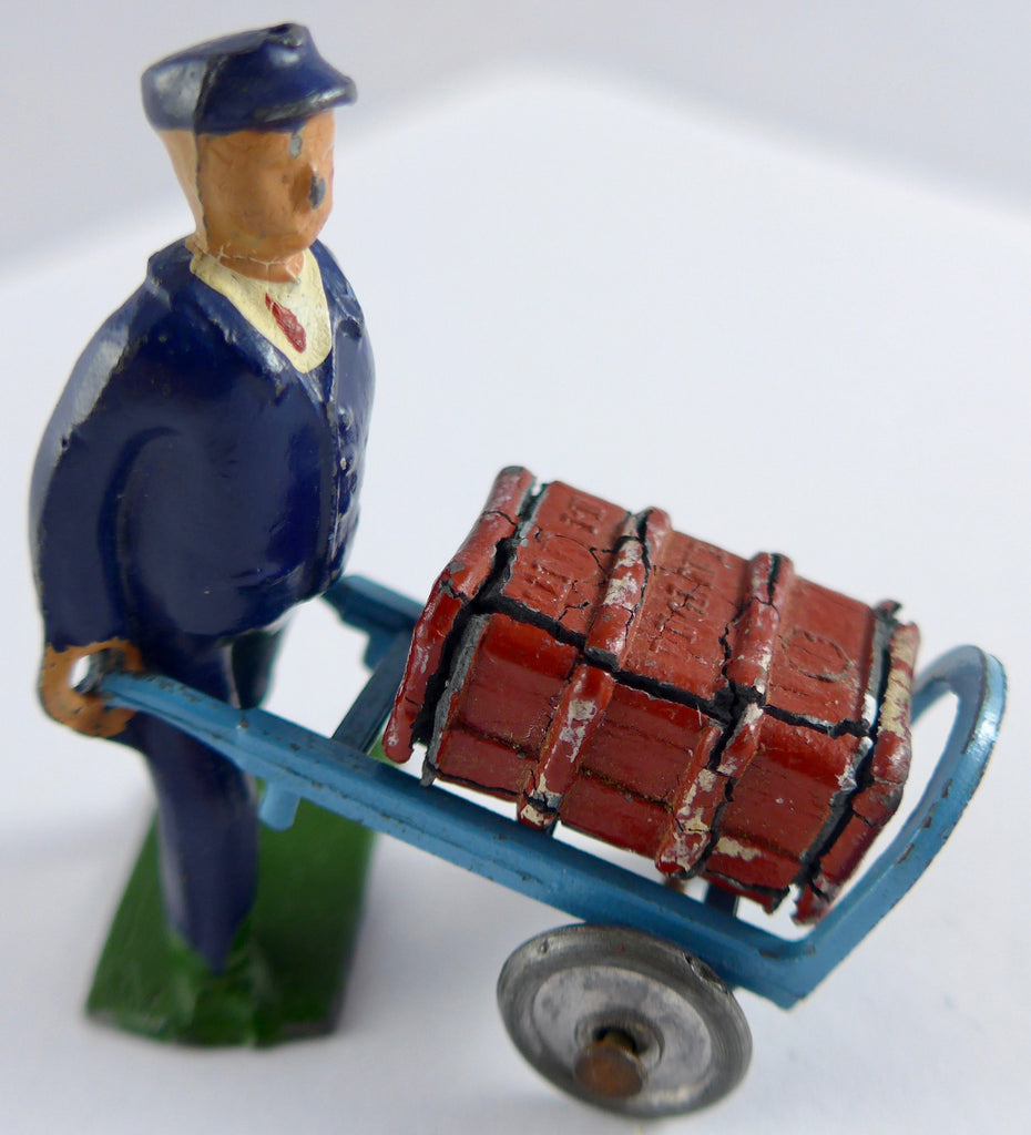 Crescent railway porter with barrow and trunk boxed set