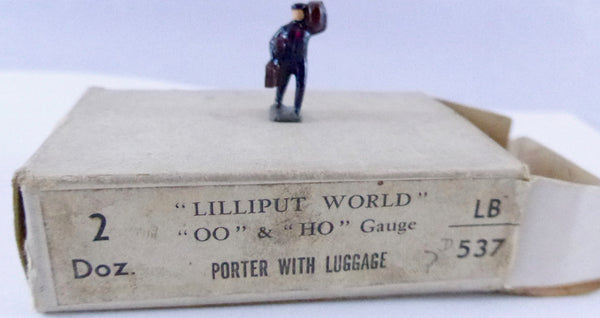 Britains Lilliput Series porter with luggage
