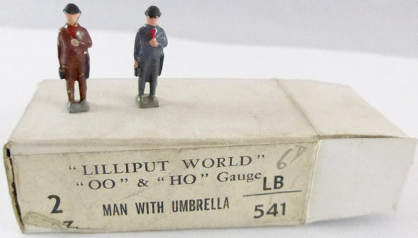 Britains Lilliput Series man with umbrella, set of two