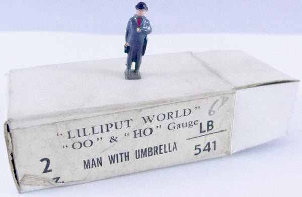 Britains Lilliput Series man with umbrella