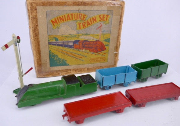 Crescent Toys Miniature Train Set, boxed