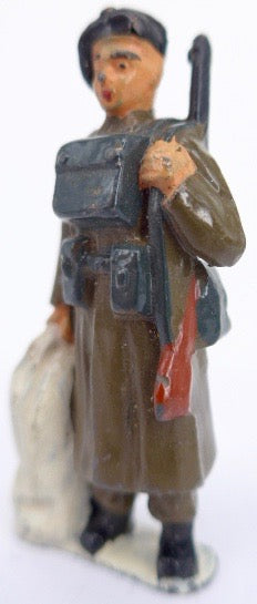 Timpo soldier with kit bag