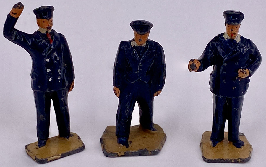 Three Dinky Toys station staff for Hornby 00 gauge