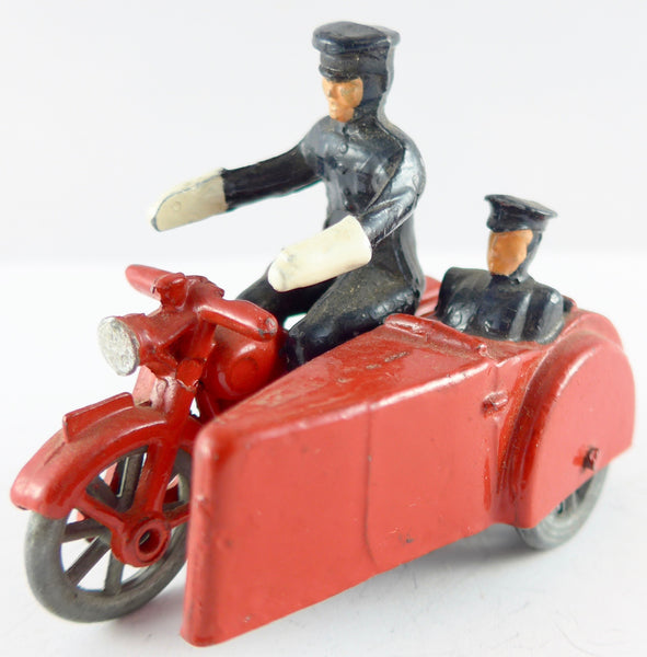 Eebee Toys police motorcycle and sidecar