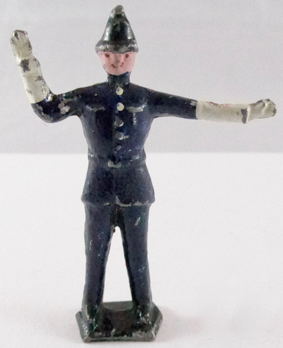 traffic policeman right hand raised