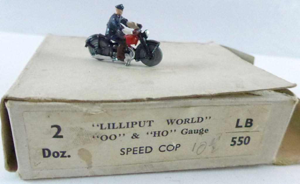Britains Lilliput series speed cop, red