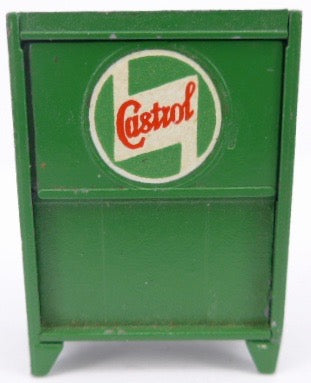 Britains Castrol oil cabinet, three pumps