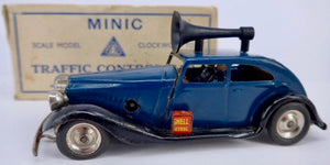 Triang Minic No.29M pre-war Police Traffic Control Car, boxed