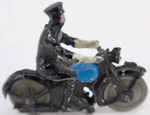 Britains traffic police motorcyclist