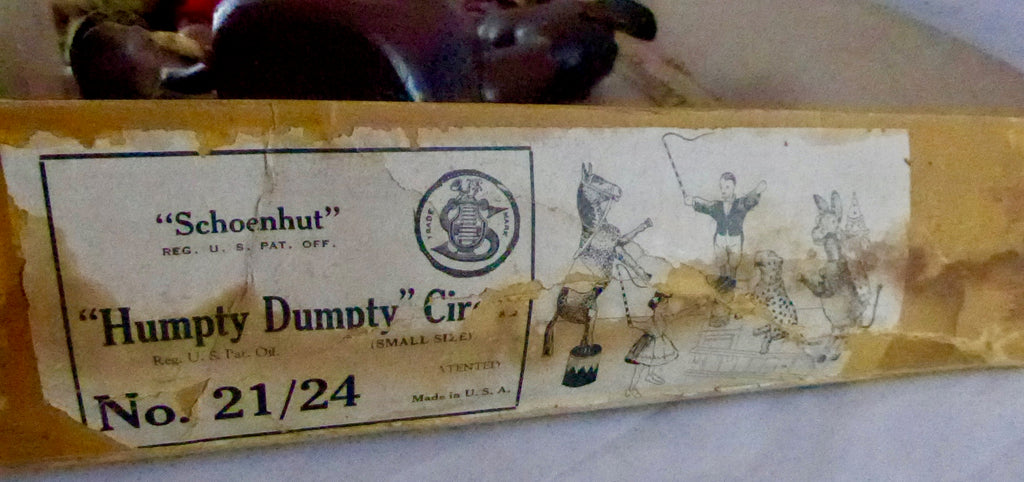 Schoenhut boxed reduced size Humpty Dumpty circus set 21/24